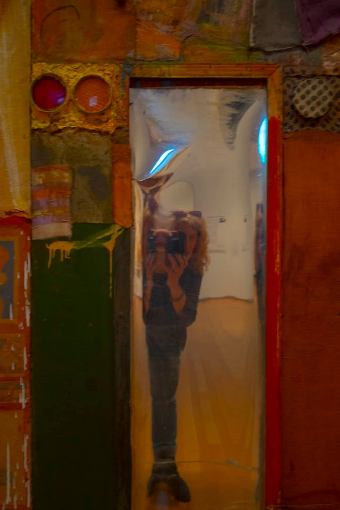 self portrait with Rauschenberg